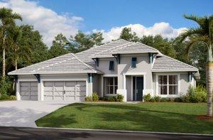 SAVANNAH 2 - WO - West Indies Elevation - 3,308 sqft, 4 Bedroom, 3 Bathroom - Cardel Homes Tampa