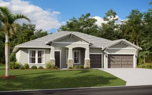 WESLEY 2.0 - Craftsman Elevation - 2,830 - 3,228 sqft, 4 Bedroom, 3-4 Bathroom - Cardel Homes Tampa