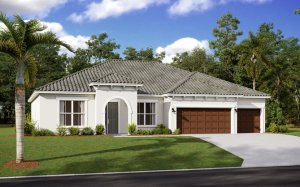 WESLEY 2.0 - Mediterranean Elevation - 2,830 - 3,228 sqft, 4 Bedroom, 3-4 Bathroom - Cardel Homes Tampa