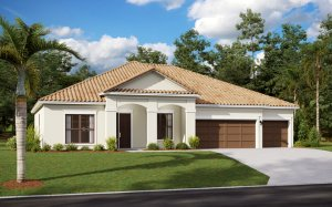 WESLEY 2.0 - Traditional Elevation - 2,830 - 3,228 sqft, 4 Bedroom, 3-4 Bathroom - Cardel Homes Tampa