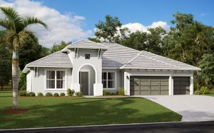 WESLEY 2.0 - West Indies Elevation - 2,830 - 3,228 sqft, 4 Bedroom, 3-4 Bathroom - Cardel Homes Tampa