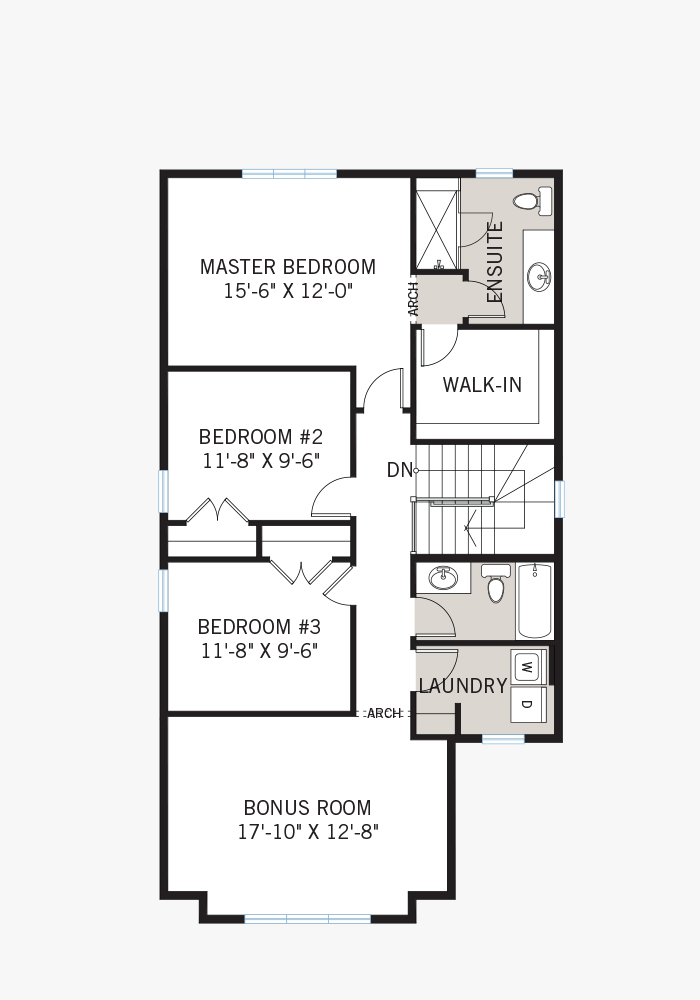 The Auden home upper floor quick possession in EdenWylde, located at 32 Aridus Crescent (Lot 63) Ottawa Built By Cardel Homes