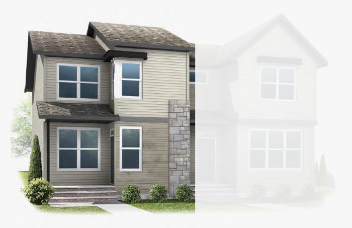 New Calgary Single Family Home Quick Possession Indigo 2 in Savanna, located at 9088 52 Street NE Built By Cardel Homes Calgary