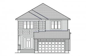 Rayburn - Canadiana B1 Elevation - 2,888 sqft, 2-5 Bedroom, 2.5 Bathroom - Cardel Homes Ottawa