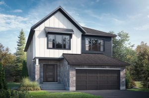 Rayburn - Farmhouse B2 Elevation - 2,888 sqft, 2-5 Bedroom, 2.5 Bathroom - Cardel Homes Ottawa