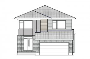 Rayburn - Modern B3 Elevation - 2,888 sqft, 2-5 Bedroom, 2.5 Bathroom - Cardel Homes Ottawa