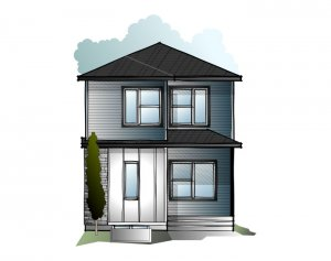 EVO 3 - F1 Modern Prairie Elevation - 1,608 sqft, 3 Bedroom, 2.5 Bathroom - Cardel Homes Calgary