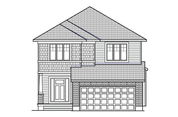 RAYBURN BSPS - Canadiana B1 Elevation - 2,888 sqft, 4-5 Bedroom, 2.5 Bathroom - Cardel Homes Ottawa
