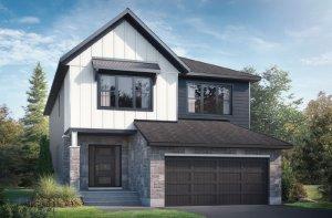 RAYBURN BSPS - Farmhouse B2 Elevation - 2,888 sqft, 4-5 Bedroom, 2.5 Bathroom - Cardel Homes Ottawa