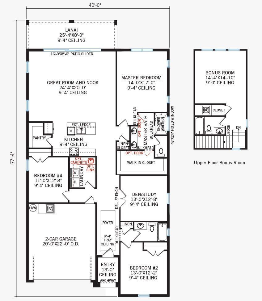 The Northwood 2 home main floor quick possession in Waterset, located at 5432 Silver Sun Dr, Apollo Beach 33572 (LOT 15) Tampa Built By Cardel Homes