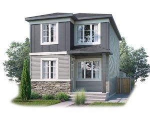 EVO3-C2-1183 Elevation - 1,608 sqft, 3 Bedroom, 2.5 Bathroom - Cardel Homes Calgary