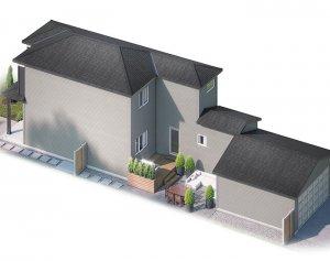 EVO3-C2-1184 Elevation - 1,608 sqft, 3 Bedroom, 2.5 Bathroom - Cardel Homes Calgary