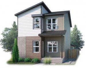 EVO3-F2-1186 Elevation - 1,608 sqft, 3 Bedroom, 2.5 Bathroom - Cardel Homes Calgary