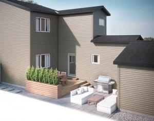 EVO3-F2-1188 Elevation - 1,608 sqft, 3 Bedroom, 2.5 Bathroom - Cardel Homes Calgary
