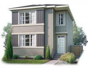 EVO4-C2-1189 Elevation - 1,960 sqft, 3 Bedroom, 2.5 Bathroom - Cardel Homes Calgary