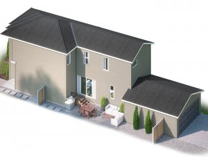 EVO4-C2-1190 Elevation - 1,960 sqft, 3 Bedroom, 2.5 Bathroom - Cardel Homes Calgary