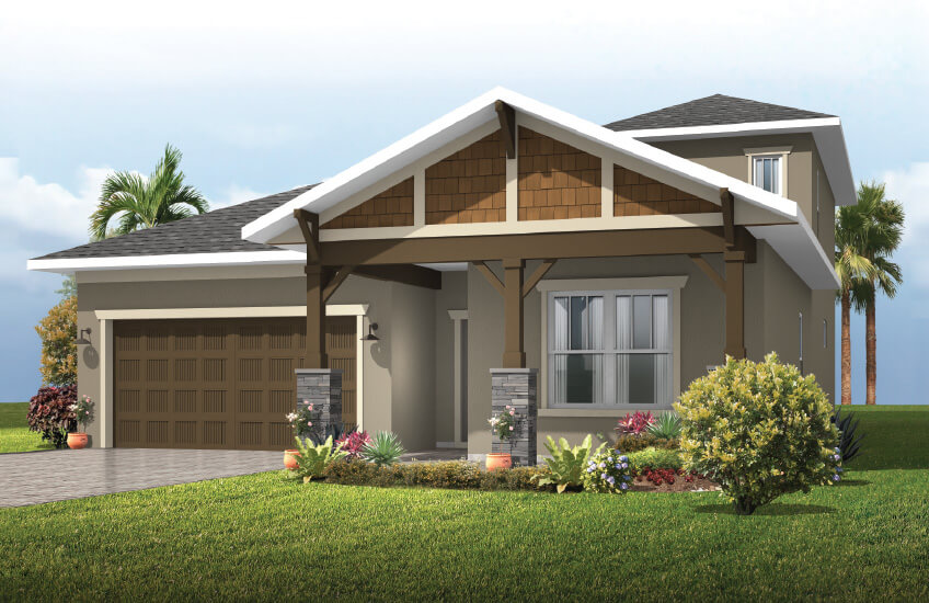 New Tampa Single Family Home Quick Possession Northwood 2.0 in Waterset, located at 5432 Silver Sun Dr, Apollo Beach 33572 (LOT 15) Built By Cardel Homes Tampa