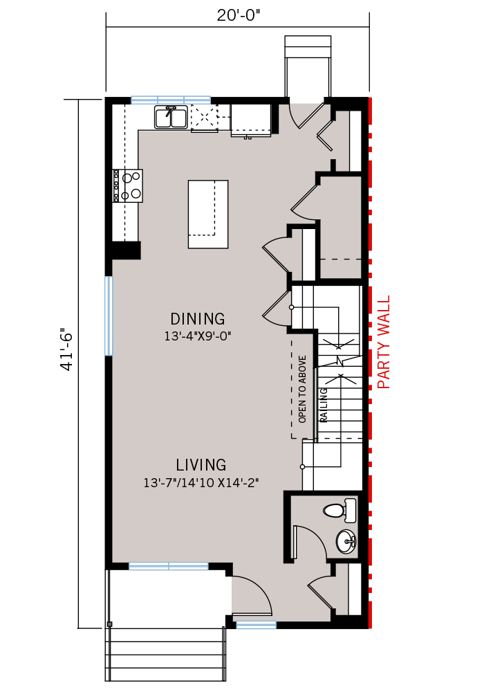 The Alder 2 home main floor quick possession in Walden, located at 887 Walgrove Blvd SE Calgary Built By Cardel Homes
