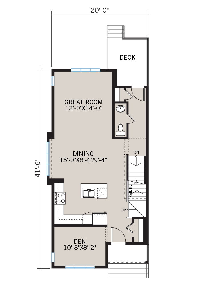 The Mensa home main floor quick possession in Walden, located at 891 Walgrove Blvd SE Calgary Built By Cardel Homes