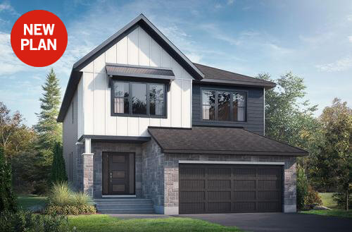 New home in RAYBURN in Blackstone in Kanata South, 2,888 SQFT, 4-5 Bedroom, 2.5 Bath, Starting at 7 - Cardel Homes Ottawa