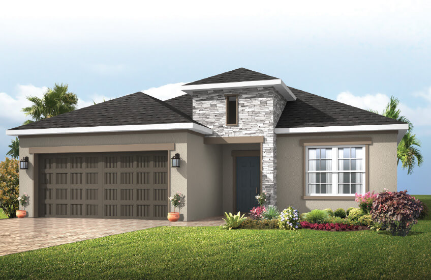 New Tampa Single Family Home Quick Possession Southampton in Waterset, located at 5413 Silver Sun Dr, Apollo Beach 33572 (LOT 15) Built By Cardel Homes Tampa