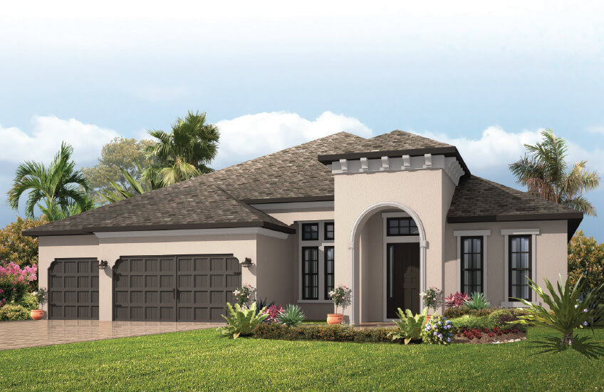 New Tampa Single Family Home Quick Possession St. Lucia in Waterset, located at 6977 Crestpoint Drive, Apollo Beach 33572 (LOT 21) Built By Cardel Homes Tampa