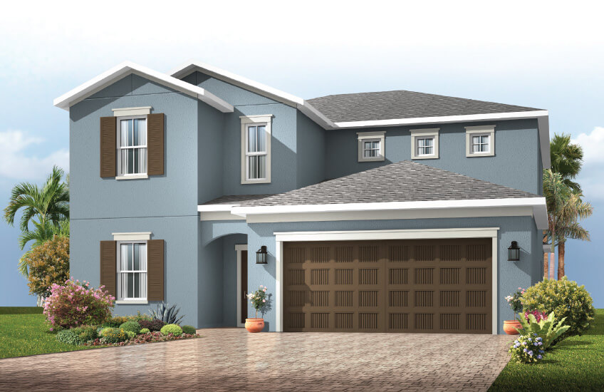 New Tampa Single Family Home Quick Possession Winford in Sandhill Ridge, located at 14119 CARISSA MEADOWS COURT, RIVERVIEW, FL 33569 (LOT 13) Built By Cardel Homes