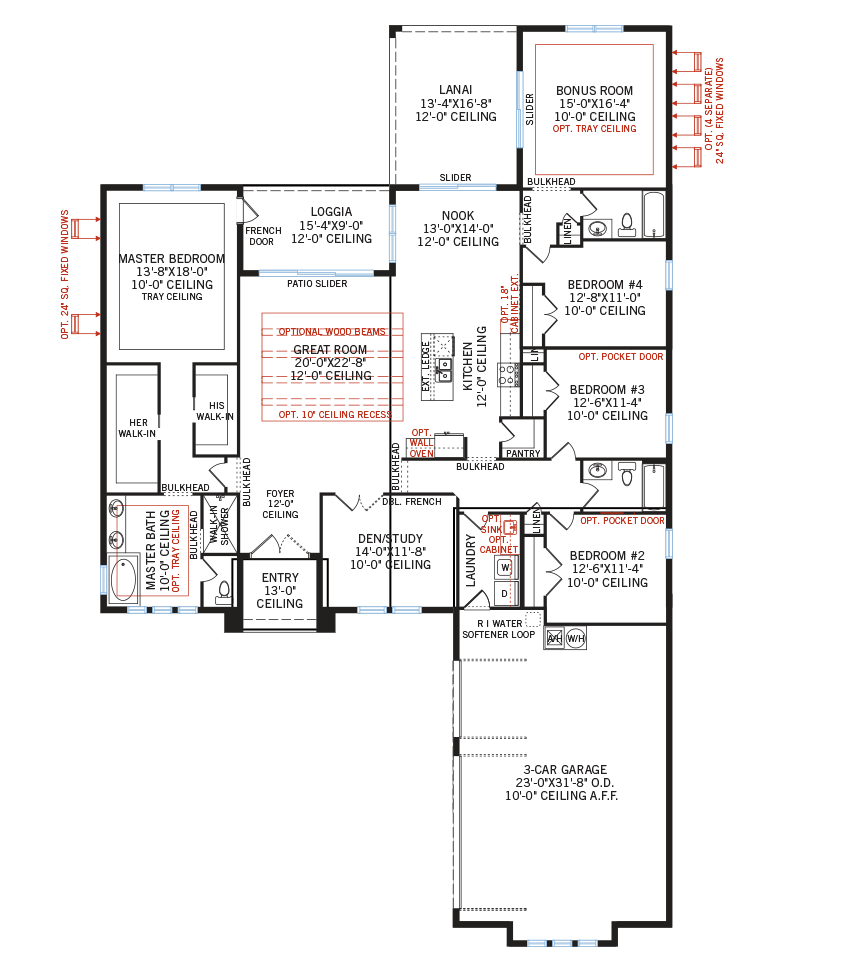 The Martin home main floor quick possession in Worthington, located at 4620 Antrim Drive  Tampa Built By Cardel Homes
