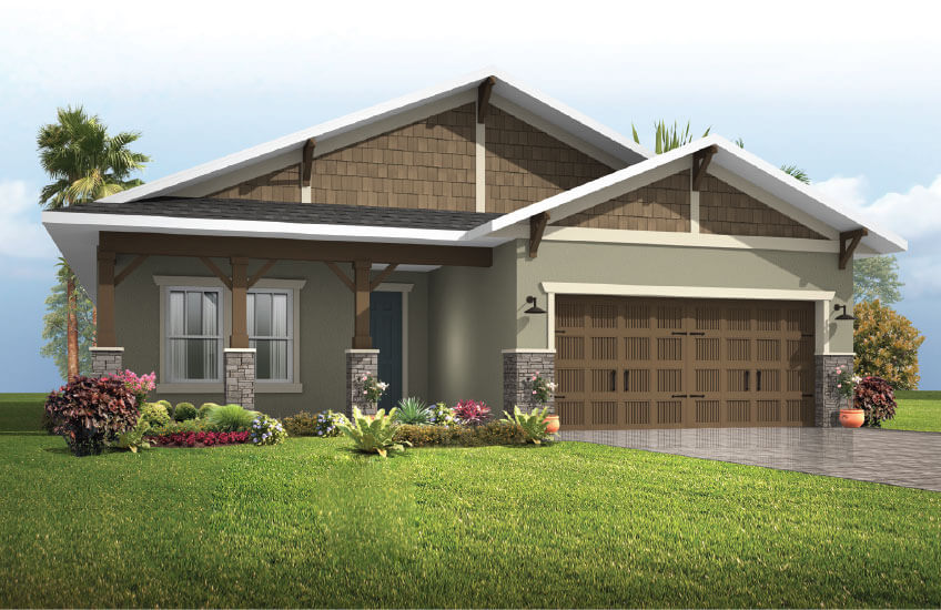 New Tampa Single Family Home Quick Possession Brighton 2 in Waterset, located at 5436 Silver Sun Drive Apollo Beach FL 33572 (Lot 17) Built By Cardel Homes