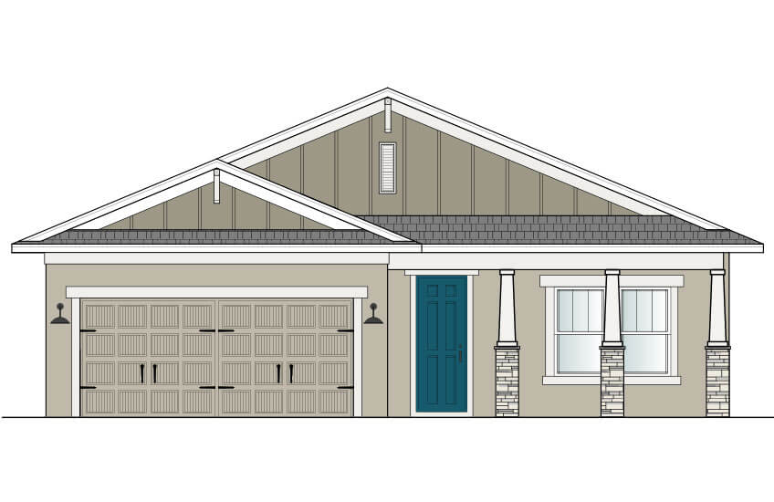 New Tampa Single Family Home Quick Possession Brighton in Waterset, located at 5439 Silver Sun Dr, Apollo Beach 33572 (Lot 22) Built By Cardel Homes Tampa