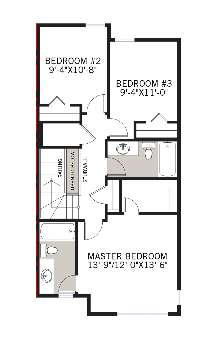 The Iris 1 home upper floor quick possession in Walden, located at 1350 WALDEN DRIVE SE Calgary Built By Cardel Homes