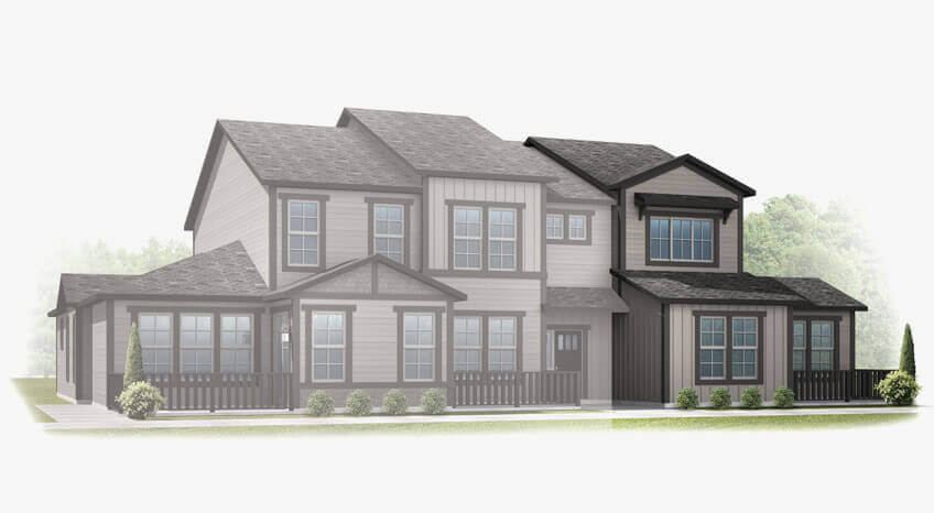 New Denver Single Family Home Quick Possession Juniper in Lincoln Creek, located at 6812 Dewey Drive Built By Cardel Homes Denver
