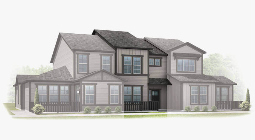 New Denver Single Family Home Quick Possession Sage in Lincoln Creek, located at 6806 Dewey Drive Built By Cardel Homes Denver