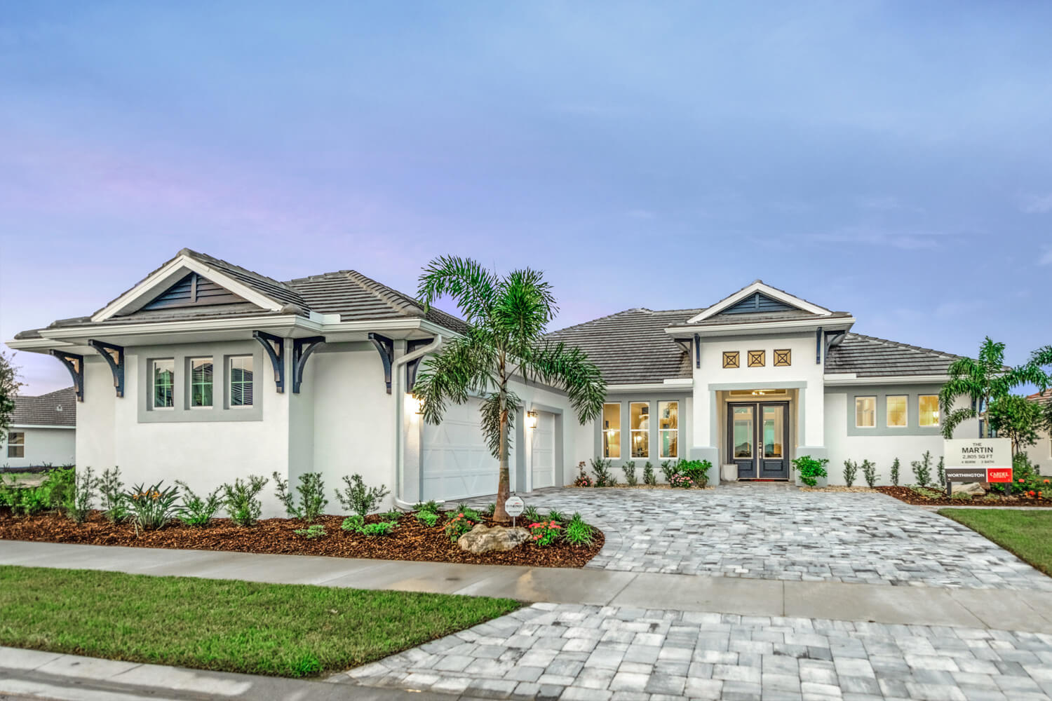New Calgary Single Family Home Martin in Shawnee Park, located at 4612 Antrim Drive, Sarasota, FL Built By Cardel Homes Calgary