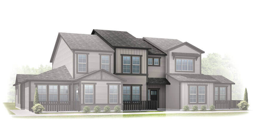 New Denver Single Family Home Quick Possession Sage in Lincoln Creek, located at 6806 Dewey Drive Built By Cardel Homes
