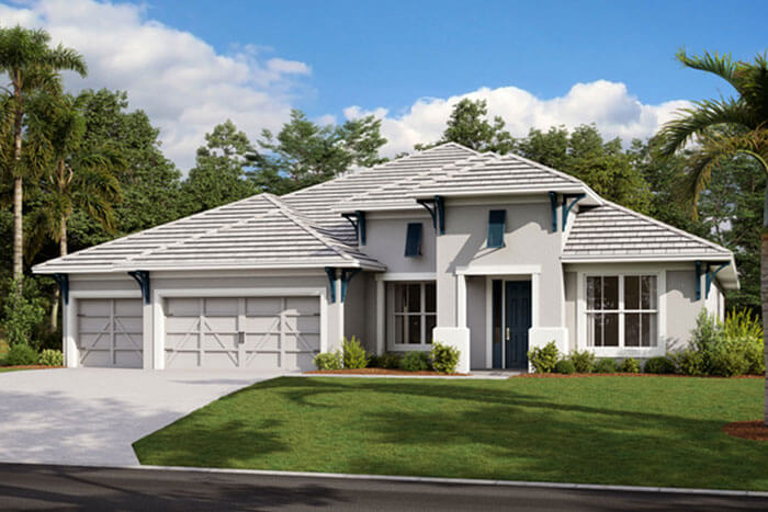 New Calgary Single Family Home Savannah in Shawnee Park, located at 4608 Antrim Drive, Sarasota, FL Built By Cardel Homes Calgary