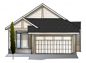 Sycamore - Shingle S1 Elevation - 1,521 sqft, 3 Bedroom, 2.5 Bathroom - Cardel Homes Calgary