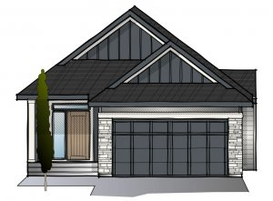 Sycamore - Rustic S2 Elevation - 1,521 sqft, 3 Bedroom, 2.5 Bathroom - Cardel Homes Calgary