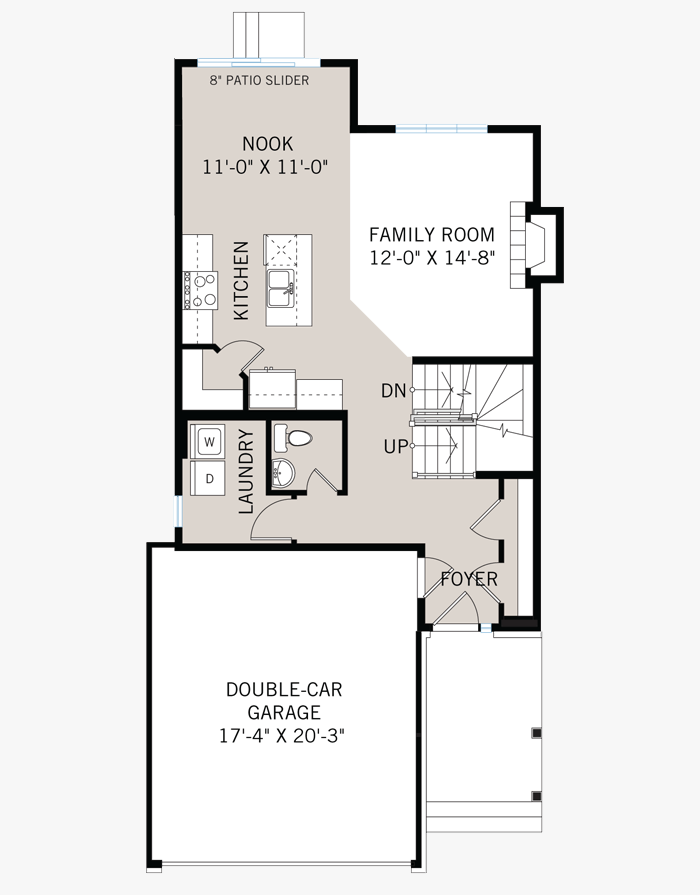The Baxter home main floor quick possession in EdenWylde, located at 187 Hickstead Way Ottawa Built By Cardel Homes