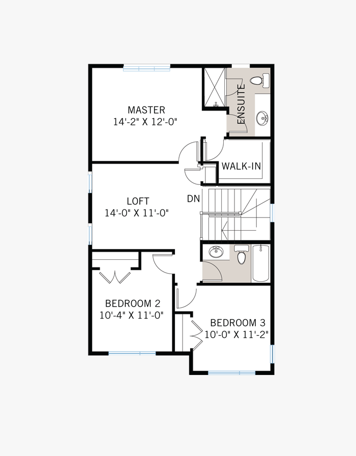 The Baxter home upper floor quick possession in EdenWylde, located at 187 Hickstead Way Ottawa Built By Cardel Homes