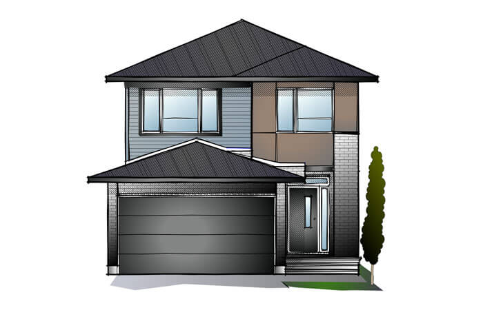 New Ottawa Single Family Home Quick Possession Baxter in EdenWylde, located at 187 Hickstead Way Built By Cardel Homes