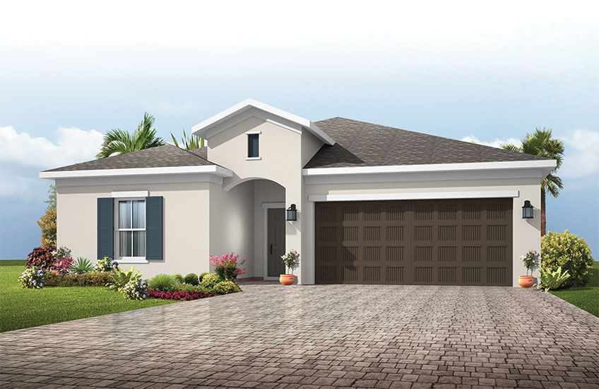 New Tampa Single Family Home Quick Possession Northwood in Sandhill Ridge, located at 11502 Tanner Ridge Place, Riverview, FL 33569 (LOT 9) Built By Cardel Homes Tampa