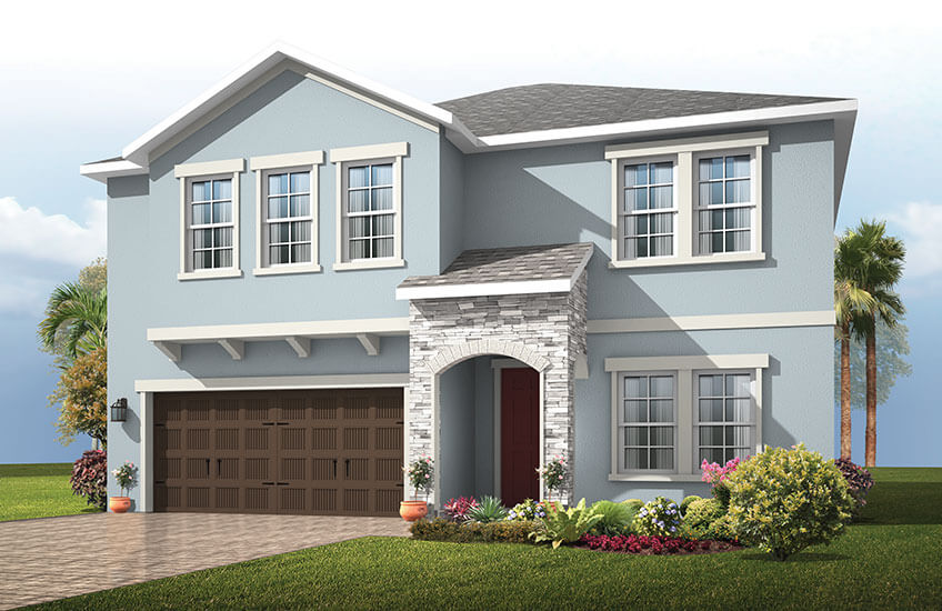 New Tampa Single Family Home Quick Possession Newhaven in Sandhill Ridge, located at 11506 Tanner Ridge Place, Riverview, FL (LOT 11) Built By Cardel Homes