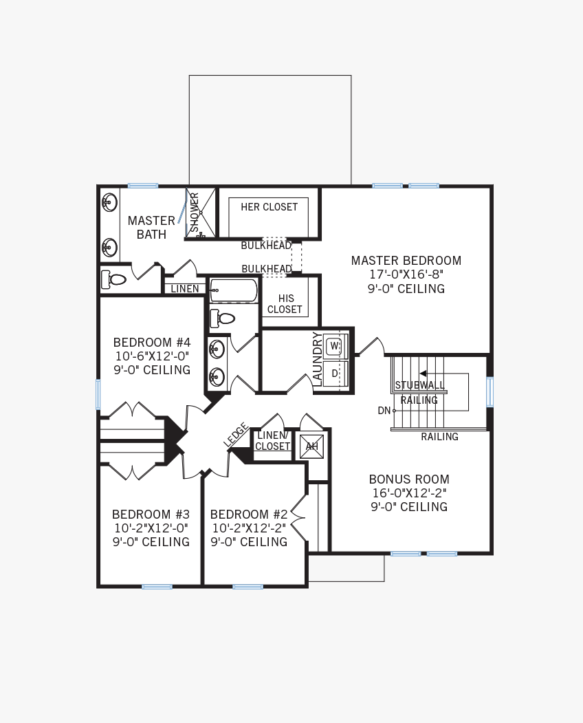The Newhaven home upper floor quick possession in Sandhill Ridge, located at 11506 Tanner Ridge Place, Riverview, FL (LOT 11) Tampa Built By Cardel Homes