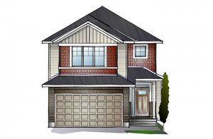 AUDEN BS - Canadiana A1 Elevation - 1,964 sqft, 3 Bedroom, 2.5 Bathroom - Cardel Homes Ottawa