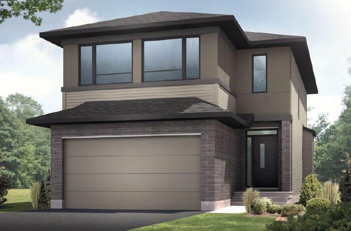 AUDEN BS - Modern A3 Elevation - 1,964 sqft, 3 Bedroom, 2.5 Bathroom - Cardel Homes Ottawa