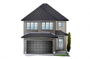 AUDEN BS - Traditional A2 Elevation - 1,964 sqft, 3 Bedroom, 2.5 Bathroom - Cardel Homes Ottawa
