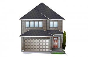 PALOMA BS - Traditional A2 Elevation - 2,233 sqft, 3-5 Bedroom, 2.5-4 Bathroom - Cardel Homes Ottawa