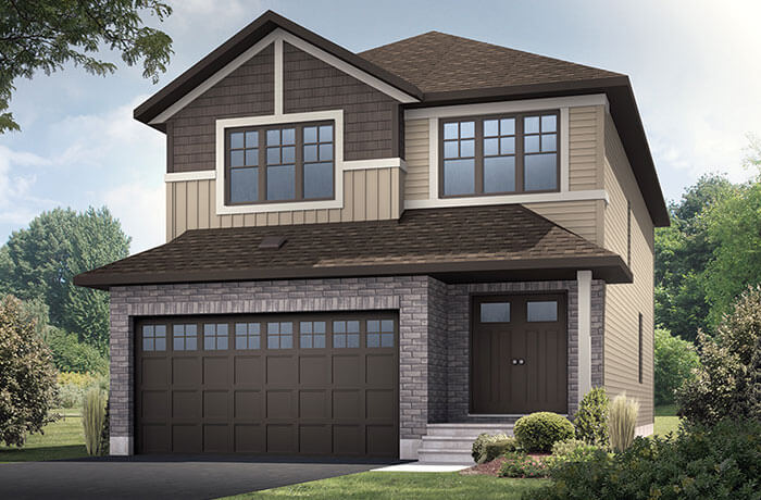 SUTTON BS - Canadiana A1 Elevation - 2,366 sqft, 4 Bedroom, 2.5 Bathroom - Cardel Homes Ottawa