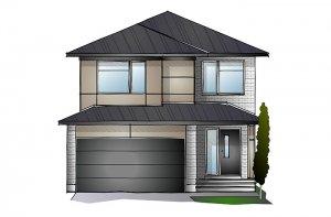 SUTTON BS - Modern A3 Elevation - 2,366 sqft, 4 Bedroom, 2.5 Bathroom - Cardel Homes Ottawa